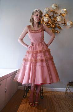 vintage dress / 50s dress / vintage prom dress / xtabay