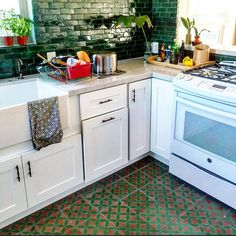Progress to my kitchen overhaul| @JustinaBlakeney on Instagram