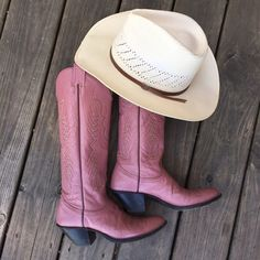 Pink Nocona Tall Cowboy Boots 8 Great condition, very rare style and color. Gorgeous boots and comfortable. Labeled a 7 but fit an 8-8.5. Shoes