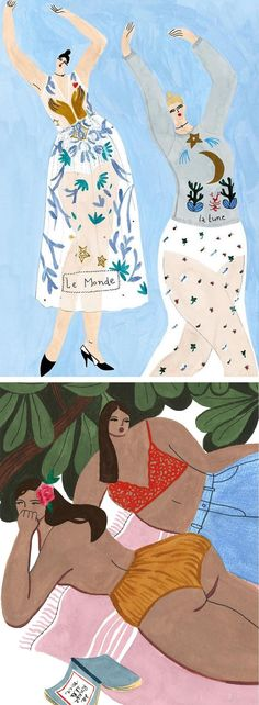 Isabelle Feliu fashion illustration | lifestyle illustration | illustrated ladies | curvy ladies #artpainting