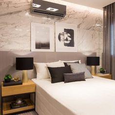 Quarto cinza: 70 ideias cheias de estilo para adicionar a cor no ambiente - Moderne Outfits, Patio Interior, Interior Design, Bath And Beyond Coupon, Retro Bike, Entertainment Center, Floating Nightstand, Location, Bed Pillows