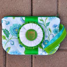 Quilted horse show ribbon wristlet purse, one-of-a-kind, $28