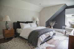 Transitional Bedroom by Abaca Interiors