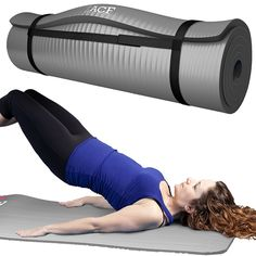 ACF Yoga Mat - Ultra ½' Thick Premium High Density Fitness Mat with Carrying Straps >>> To view further for this item, visit the image link.