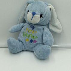 "Dan Dee My First Easter Blue Bunny Rabbit Plush Soft Toy Stuffed 9"" #DanDee"