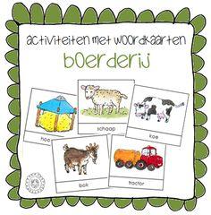 Activiteiten met woordkaarten | Thema BOERDERIJ