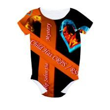 My Child Has CRPS RSD Fire All Over Print Bodysuit