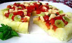 Pizza Fría con Masa de Patatas