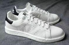 6b0de5de9c07 Chaussures De Course 2017 Adidas Stan Smith Boost 2017 Off White blanc  Navy. gif like · Aha Beautiful Shoes