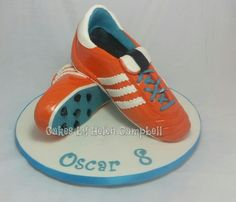 football boot cake - Cake by Helen Campbell
