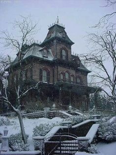 Abandoned house in the winter time