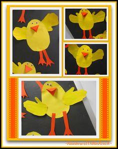 Spring Arts and Crafts for Kids, Springtime Artwork in Kindergarten and Preschool via RainbowsWithinReach