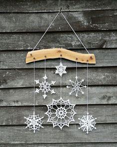 56 New Ideas crochet christmas gifts snowflake ornaments Crochet Christmas Gifts, Crochet Christmas Decorations, Snowflake Decorations, Snowflake Ornaments, Handmade Decorations, Christmas Crafts, Christmas Ornaments, Crochet Decoration, Crochet Gifts