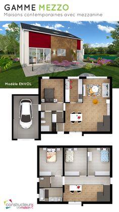 plan de maison avec mezzanine