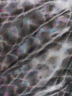 Black/Silver Micro Hologram Effect Squares Foil Material