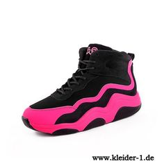 Damen Sport Sneakers in Schwarz Pink