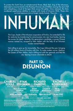 Preview: Inhuman #12,   Inhuman #12 Story: Charles Soule Art: Ryan Stegman & Richard Isanove Lettering: Clayton Cowles Covers: Ryan Stegman & Phil Noto Publi...,  #All-Comic #All-ComicPreviews #CharlesSoule #ClaytonCowles #Comics #inhuman #Marvel #PhilNoto #Previews #RichardIsanove #RyanStegman