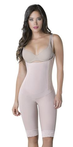9355d330ae77b Thaxx Colombian Shapewear Womens Slimming KneeLength Body Shaper 1373090  Large Nude     Click on