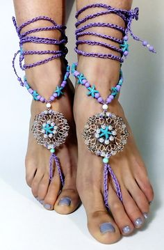 ON SALE BAREFOOT sandalsfoot jewelryGypsyWedding Barefoot