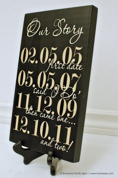 Custom Date Sign Important date Wood Sign painted by Bosheree, $30.00