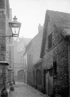 Alley way rear off St Mary Guild Church - lichfield history museum
