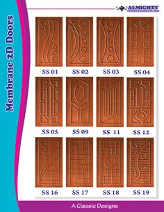 Wooden Membrane 2D Doors from Quality Wooden Membrane Doors Manufacturer and Supplier  sc 1 st  Pinterest & Membrane 2D and white doors suppliers and manufacturers in elumalai ...