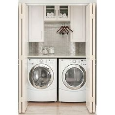 9 Tips to Get Your Laundry Room Under Control ❤ liked on Polyvore featuring home and home improvement