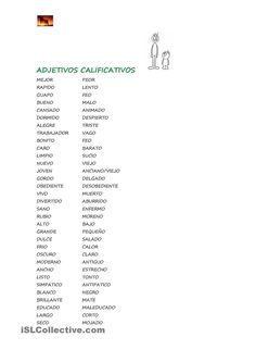 Adjetivos calificativos