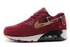 ff7b35e052f9 Nike Air Max 90 Womens Dark Red Discount WmbBy