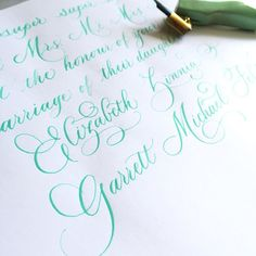 """""""Practice in mint! #calligraphy #pointedpen #practice"""""""