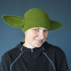 The Yoda Beanie - a reason to learn to knit...