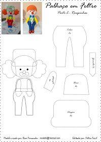 Free Felt Clown Pattern Boy and Girl 2/2