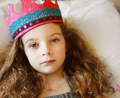 RESERVED for SUNNY Ruby Fabric Crown