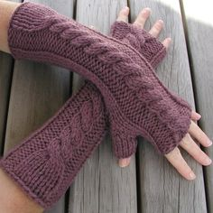 Hand Knitted Fingerless Gloves / Arm Warmers, going to ask my mom to whip up a pair of these for fall!