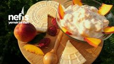 Şeftalili Yoğurt (Bol Meyve Taneli, Harika Lezzet) Dairy, Cheese, Food, Essen, Meals, Yemek, Eten