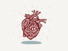 Heart designed by Bhavya Minocha. the global community for designers and creative professionals. Nurse Art, Heart Illustration, Medical Art, Anatomy Art, Heart Art, Wall Collage, Wallpaper, Art Inspo, Design Elements