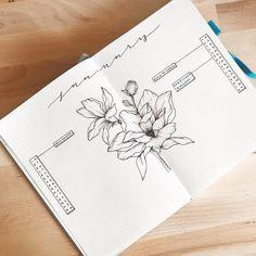 Bullet journal monthly calendar, linear calendar, vertical calendar, flower drawing. | @allorasbujo
