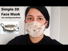 face mask diy sewing pattern Hi everyone In this video u will learn how to make a handmade cloth face mask step by step complete tutorial special mask How to prevent infection How to . Easy Face Masks, Best Face Mask, Diy Face Mask, Sewing Hacks, Sewing Tutorials, Tutorial Sewing, Easy Knitting Projects, Simple Face, 3d Face