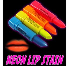 Black Light Neon Lip and Body Stain (Set of 4 Colors)