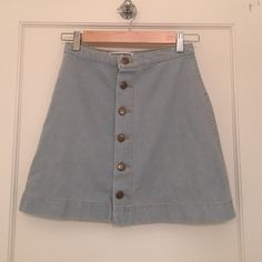 American Apparel High-Waisted Denim Skirt Buttoned up jean skirt. Worn once American Apparel Skirts Mini
