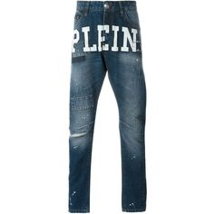 Philipp Plein 'Say My Name' Milan cut jeans Alfredo Esteve ❤ liked on Polyvore featuring jeans, blue jeans, philipp plein and philipp plein jeans