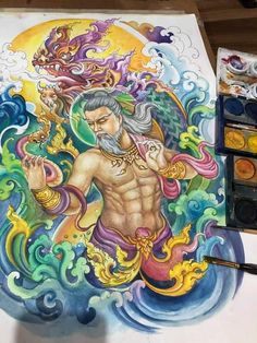Thai Tattoo, Thai Style, Traditional Art, Designs To Draw, Fantasy, Tattoos, Drawings, Thailand Tattoo, Tatuajes