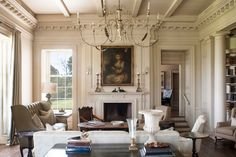 Great room with views overlooking back porch - Texas Hill Country Estate Designed by Curtis & Windham Architects