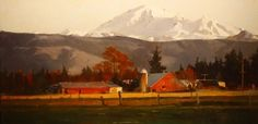 """""Mt. Baker Farm""  oil landscape painting by Robin Weiss"" by Robin Weiss"