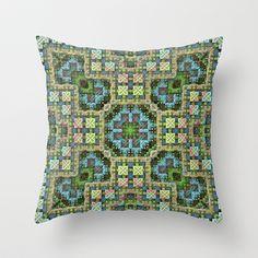 """Needlepoint Sampler"" (3D Fractal) Throw Pillow by Lyle Hatch - $20.00"