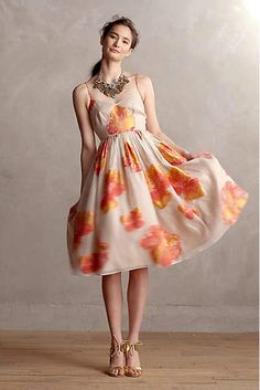 Blazing Hibiscus Dress - anthropologie.com