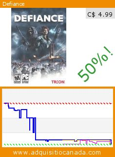 Defiance (DVD-ROM). Drop 50%! Current price C$ 4.99, the previous price was C$ 9.99. http://www.adquisitiocanada.com/namco-bandai/defiance-1