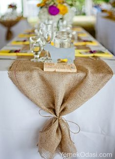 Natural Burlap Runner MADE TO ORDER. Rustic Chic Decoration for Thanksgiving Dinner, Fall Festival, Wedding, Bridal Shower Natural Burlap Runner Bridal Shower Tables, Bridal Shower Centerpieces, Bridal Shower Rustic, Wedding Table Decorations, Wedding Table Settings, Rustic Bridal Shower Decorations, Rustic Centerpieces, Bridal Shower Fall, Rustic Wedding Showers