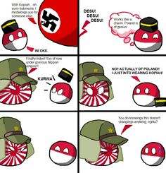 Poland Vs The Axis by bloatarder - A Member of the Internet's Largest Humor Community Poland Country, Country Art, Japan Country, History Jokes, Mundo Comic, Marvel Funny, Fun Comics, Really Funny, Hetalia