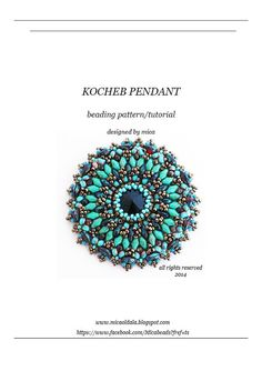 Kocheb Pendant  Beading Pattern/Tutorial  PDF file for by micabead, $12.00